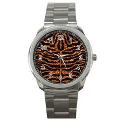 Skin2 Black Marble & Copper Foil Sport Metal Watch