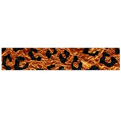 Skin5 Black Marble & Copper Foil Flano Scarf (large)