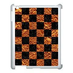 Square1 Black Marble & Copper Foil Apple Ipad 3/4 Case (white)