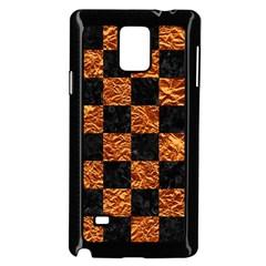 Square1 Black Marble & Copper Foil Samsung Galaxy Note 4 Case (black)