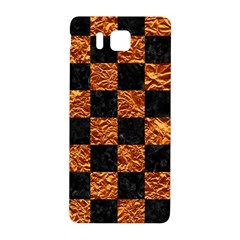 Square1 Black Marble & Copper Foil Samsung Galaxy Alpha Hardshell Back Case