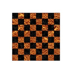 Square1 Black Marble & Copper Foil Satin Bandana Scarf