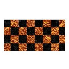 Square1 Black Marble & Copper Foil Satin Wrap