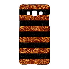 Stripes2 Black Marble & Copper Foil Samsung Galaxy A5 Hardshell Case