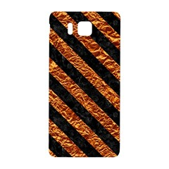 Stripes3 Black Marble & Copper Foil (r) Samsung Galaxy Alpha Hardshell Back Case