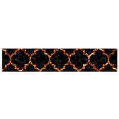Tile1 Black Marble & Copper Foil Flano Scarf (small)