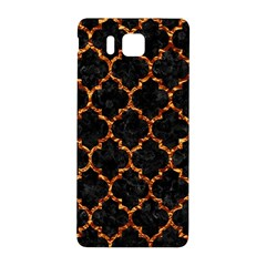 Tile1 Black Marble & Copper Foil Samsung Galaxy Alpha Hardshell Back Case