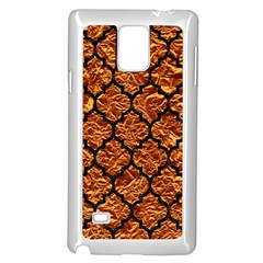 Tile1 Black Marble & Copper Foil (r) Samsung Galaxy Note 4 Case (white)