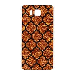 Tile1 Black Marble & Copper Foil (r) Samsung Galaxy Alpha Hardshell Back Case