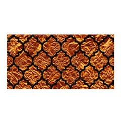 Tile1 Black Marble & Copper Foil (r) Satin Wrap