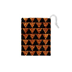 Triangle2 Black Marble & Copper Foil Drawstring Pouches (xs)