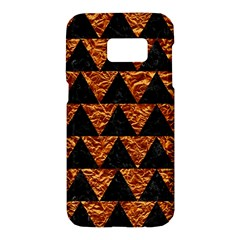 Triangle2 Black Marble & Copper Foil Samsung Galaxy S7 Hardshell Case