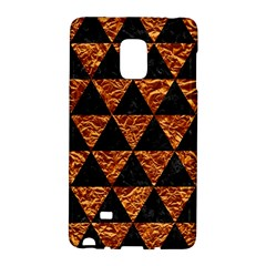 Triangle3 Black Marble & Copper Foil Galaxy Note Edge