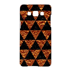 Triangle3 Black Marble & Copper Foil Samsung Galaxy A5 Hardshell Case