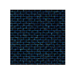Brick1 Black Marble & Deep Blue Water Small Satin Scarf (square)