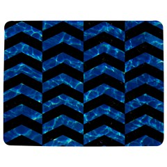 Chevron2 Black Marble & Deep Blue Water Jigsaw Puzzle Photo Stand (rectangular)