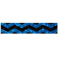 Chevron3 Black Marble & Deep Blue Water Flano Scarf (large)