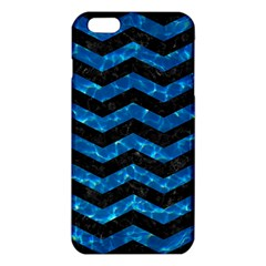 Chevron3 Black Marble & Deep Blue Water Iphone 6 Plus/6s Plus Tpu Case