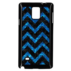 Chevron9 Black Marble & Deep Blue Water Samsung Galaxy Note 4 Case (black)