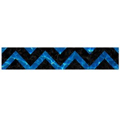 Chevron9 Black Marble & Deep Blue Water Flano Scarf (large)