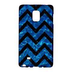 Chevron9 Black Marble & Deep Blue Water (r) Galaxy Note Edge