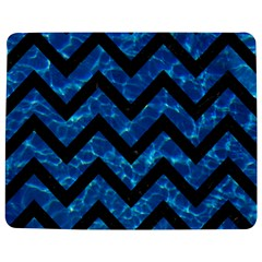 Chevron9 Black Marble & Deep Blue Water (r) Jigsaw Puzzle Photo Stand (rectangular)