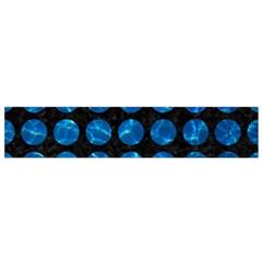 Circles1 Black Marble & Deep Blue Water Flano Scarf (small)