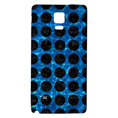 Circles1 Black Marble & Deep Blue Water (r) Galaxy Note 4 Back Case