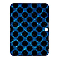 Circles2 Black Marble & Deep Blue Water (r) Samsung Galaxy Tab 4 (10 1 ) Hardshell Case