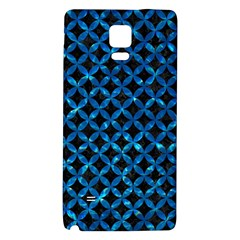 Circles3 Black Marble & Deep Blue Water Galaxy Note 4 Back Case