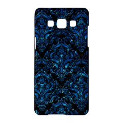 Damask1 Black Marble & Deep Blue Water Samsung Galaxy A5 Hardshell Case