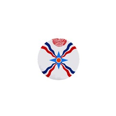 Assyrian Flag  1  Mini Buttons
