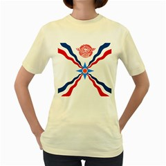 Assyrian Flag  Women s Yellow T Shirt