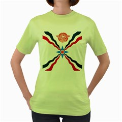 Assyrian Flag  Women s Green T Shirt