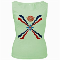 Assyrian Flag  Women s Green Tank Top