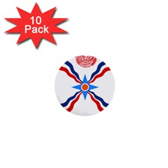 Assyrian Flag  1  Mini Buttons (10 Pack)