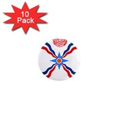 Assyrian Flag  1  Mini Magnet (10 Pack)