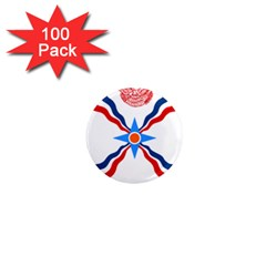 Assyrian Flag  1  Mini Magnets (100 Pack)