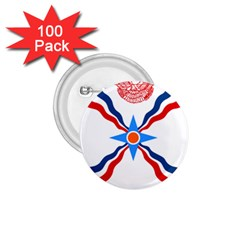Assyrian Flag  1 75  Buttons (100 Pack)