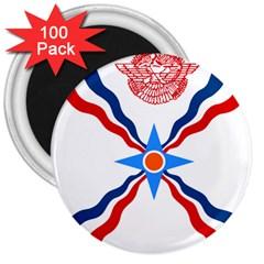 Assyrian Flag  3  Magnets (100 Pack)