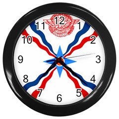 Assyrian Flag  Wall Clocks (black)