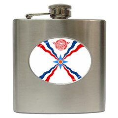Assyrian Flag  Hip Flask (6 Oz)