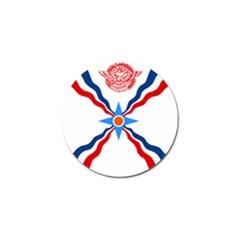 Assyrian Flag  Golf Ball Marker (4 Pack)