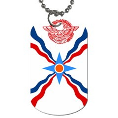 Assyrian Flag  Dog Tag (two Sides)