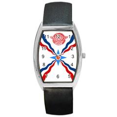 Assyrian Flag  Barrel Style Metal Watch