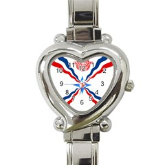 Assyrian Flag  Heart Italian Charm Watch