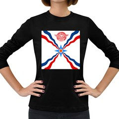Assyrian Flag  Women s Long Sleeve Dark T Shirts