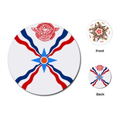 Assyrian Flag  Playing Cards (round)