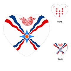 Assyrian Flag  Playing Cards (heart)