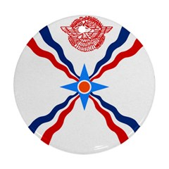 Assyrian Flag  Round Ornament (two Sides)